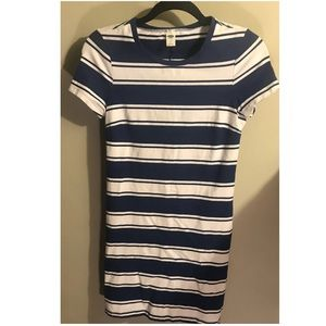 Striped Old Navy Fitted Dress
